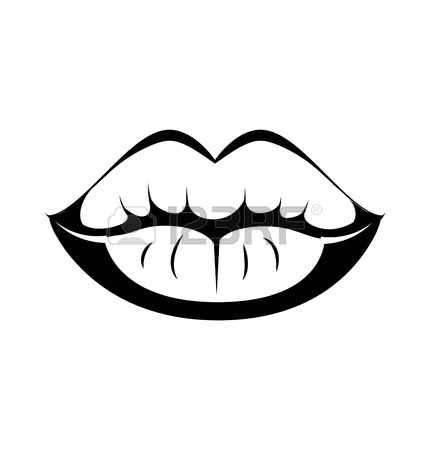 Clipart picture of lips in black and white banner freeuse download Lip Clipart Black And White | Free download best Lip Clipart Black ... banner freeuse download