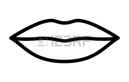 Clipart picture of lips in black and white picture royalty free Lips black and white clipart 7 » Clipart Station picture royalty free