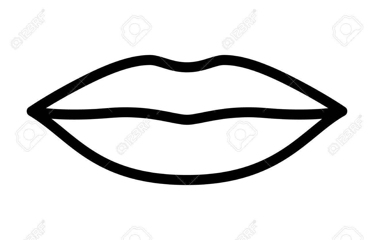 Kissing lips clipart black and white