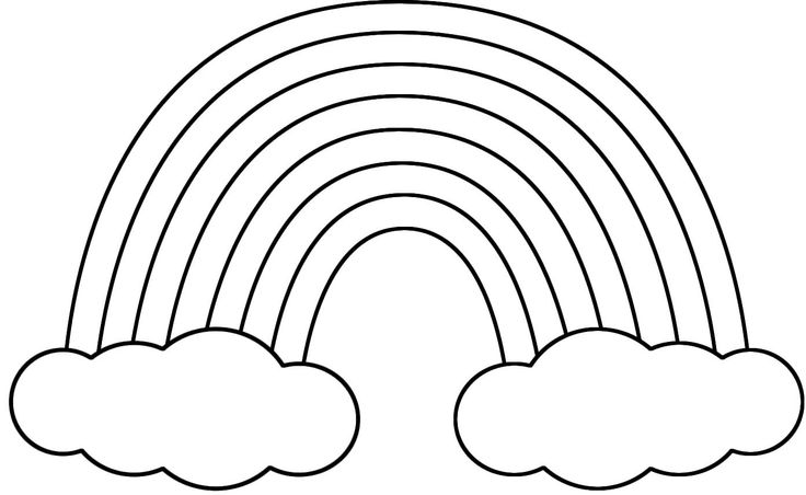 Clipart picture of rainbow in black and white clipart royalty free download Free Rainbow Cliparts Black, Download Free Clip Art, Free Clip Art ... clipart royalty free download