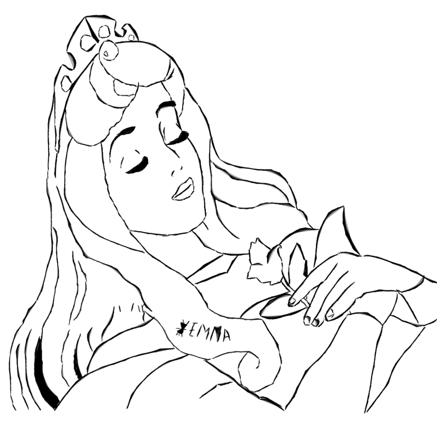 Clipart picture of sleeping beauty black and white graphic free library Sleeping Princess Cliparts - Cliparts Zone graphic free library