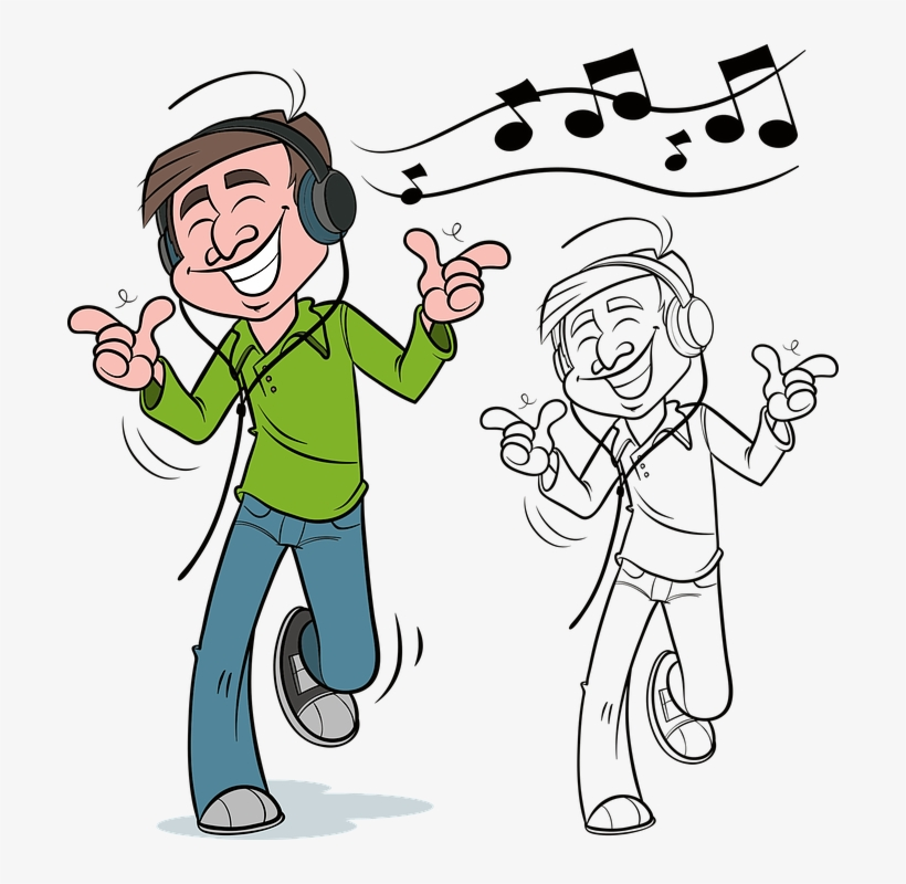 Clipart picture of someone listening to music jpg transparent Man, Music, Dancing, Dance, People, Male, Person - Man Listening To ... jpg transparent