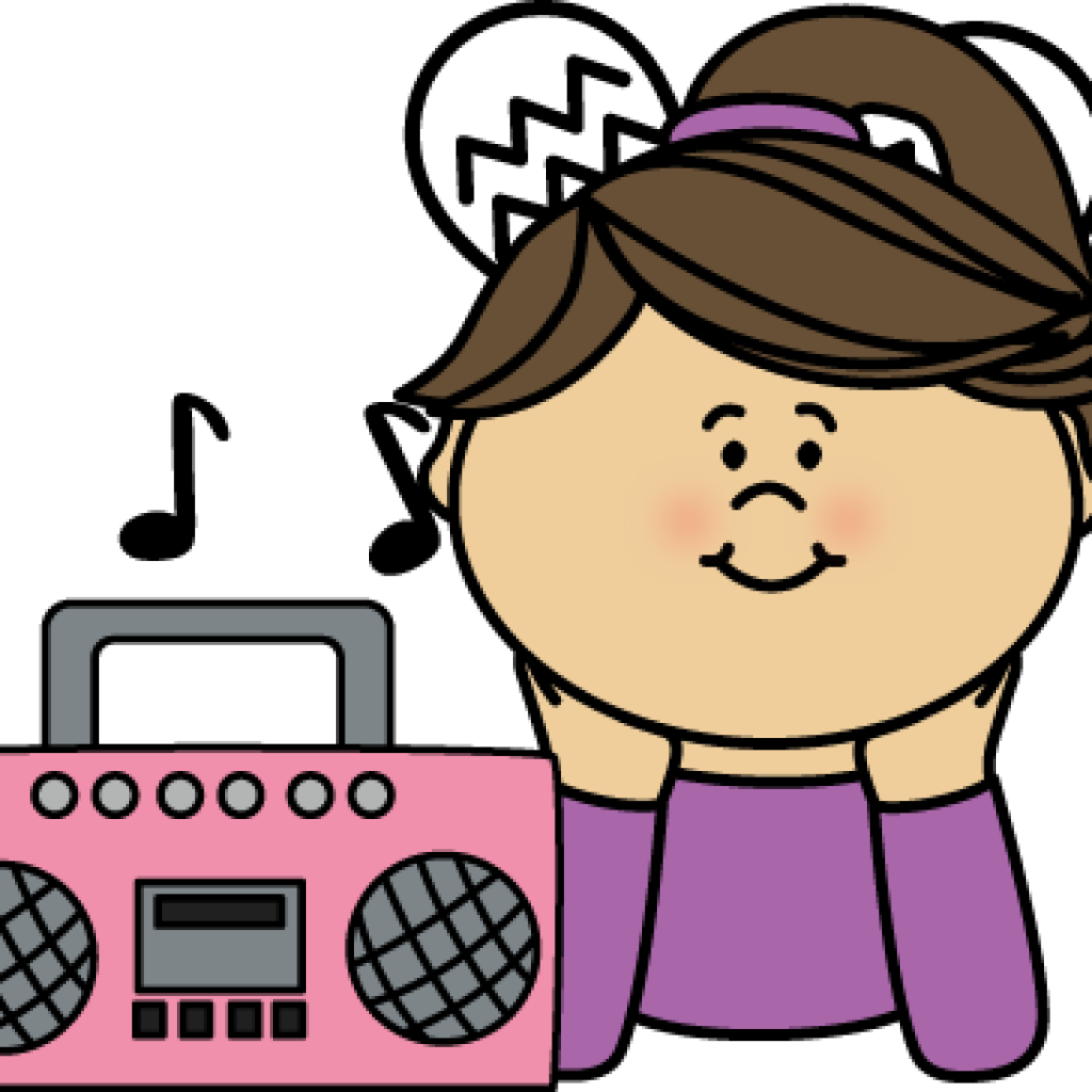 Clipart picture of someone listening to music svg library Girl listening to music clipart clipart images gallery for free ... svg library
