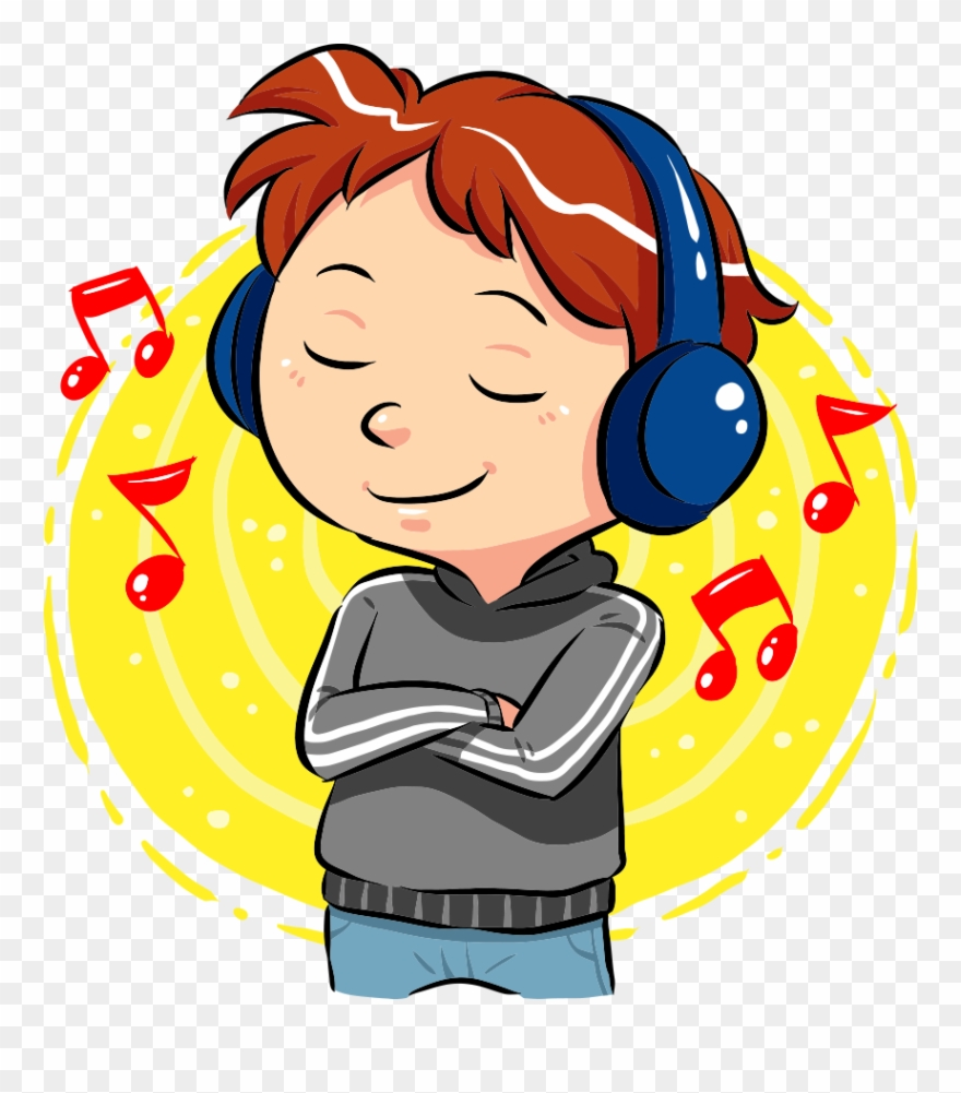 Music clipart download library Svg Freeuse Stock Boy Listening To Music Clipart - Boy Listening ... library
