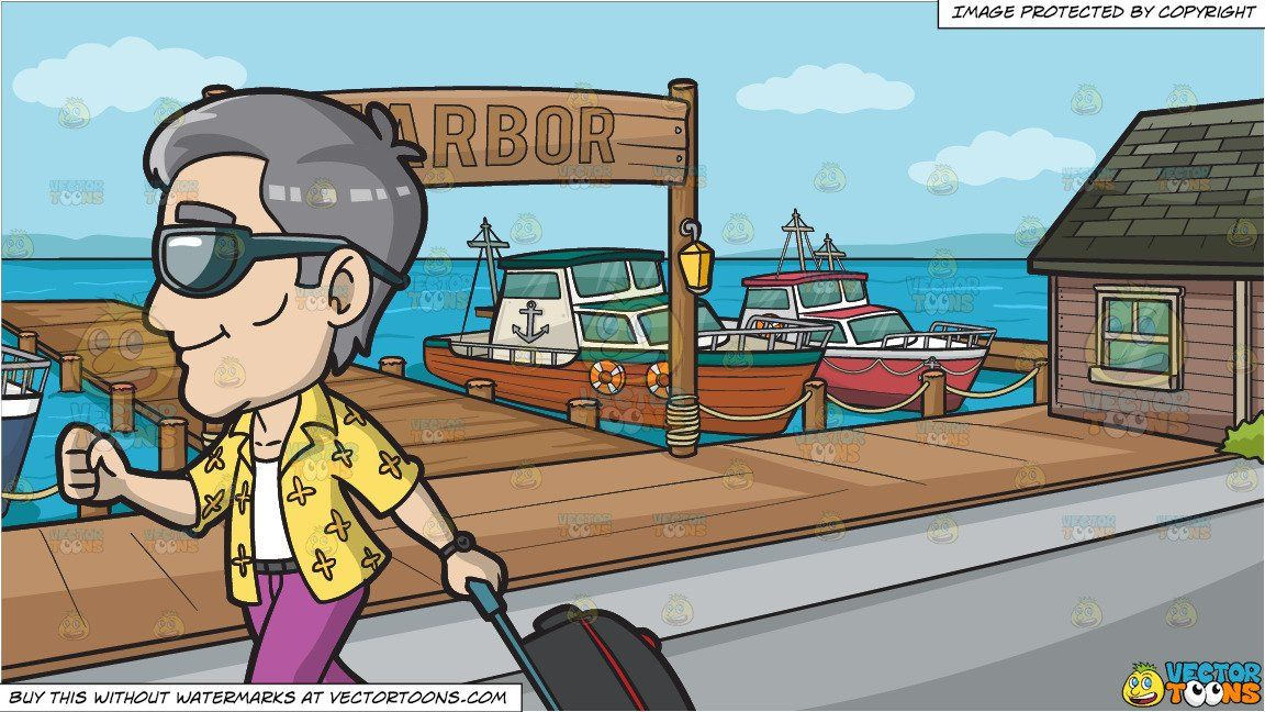 Clipart picture of tourist at airport picture freeuse library clipart #cartoon A Mature Male Tourist Arriving At The Airport For A ... picture freeuse library