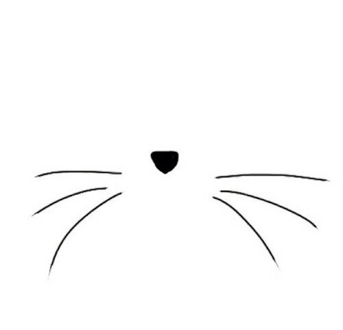 Clipart picture of whisker black and white clip download The cat whiskers they come from within (tattoo idea form my aunt ... clip download