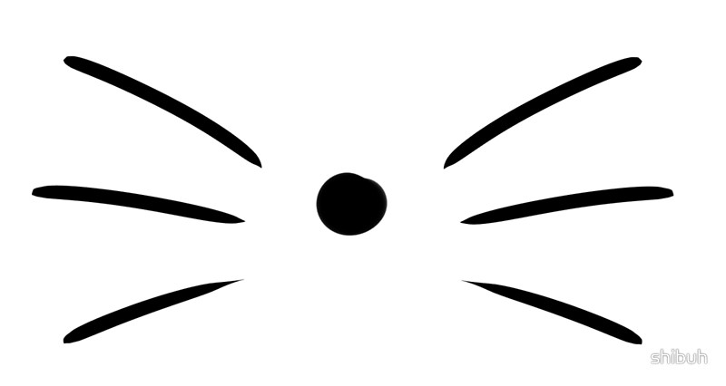 Clipart picture of whisker black and white vector transparent Cat Whiskers Clipart   Free download best Cat Whiskers Clipart on ... vector transparent