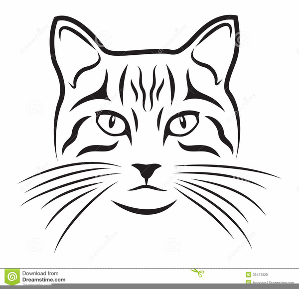 Clipart picture of whisker black and white png black and white stock Black White Cat Hat Clipart   Free Images at Clker.com - vector clip ... png black and white stock