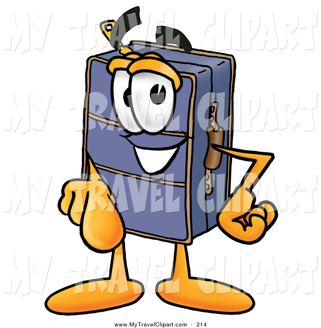 Image viewer clipart banner freeuse Clipart of a Happy Suitcase Cartoon Character Pointing at the Viewer ... banner freeuse
