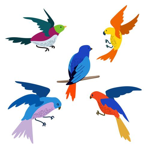 Set vector download free. Flying bird clipart