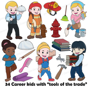 Clipart pictures of community helpers free Community Helpers Clip Art with Props - Clipart BUNDLE - Careers and Tools free
