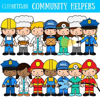 Clipart pictures of community helpers vector download Community Helpers Clipart Worksheets & Teaching Resources   TpT vector download