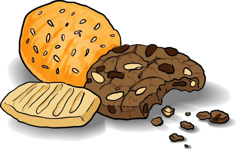 Plate of sugar cookies clipart