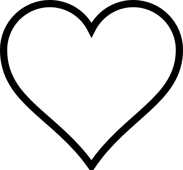 Happy heart clipart black and white png library library clip art black and white | Black And White Heart clip art - vector ... png library library