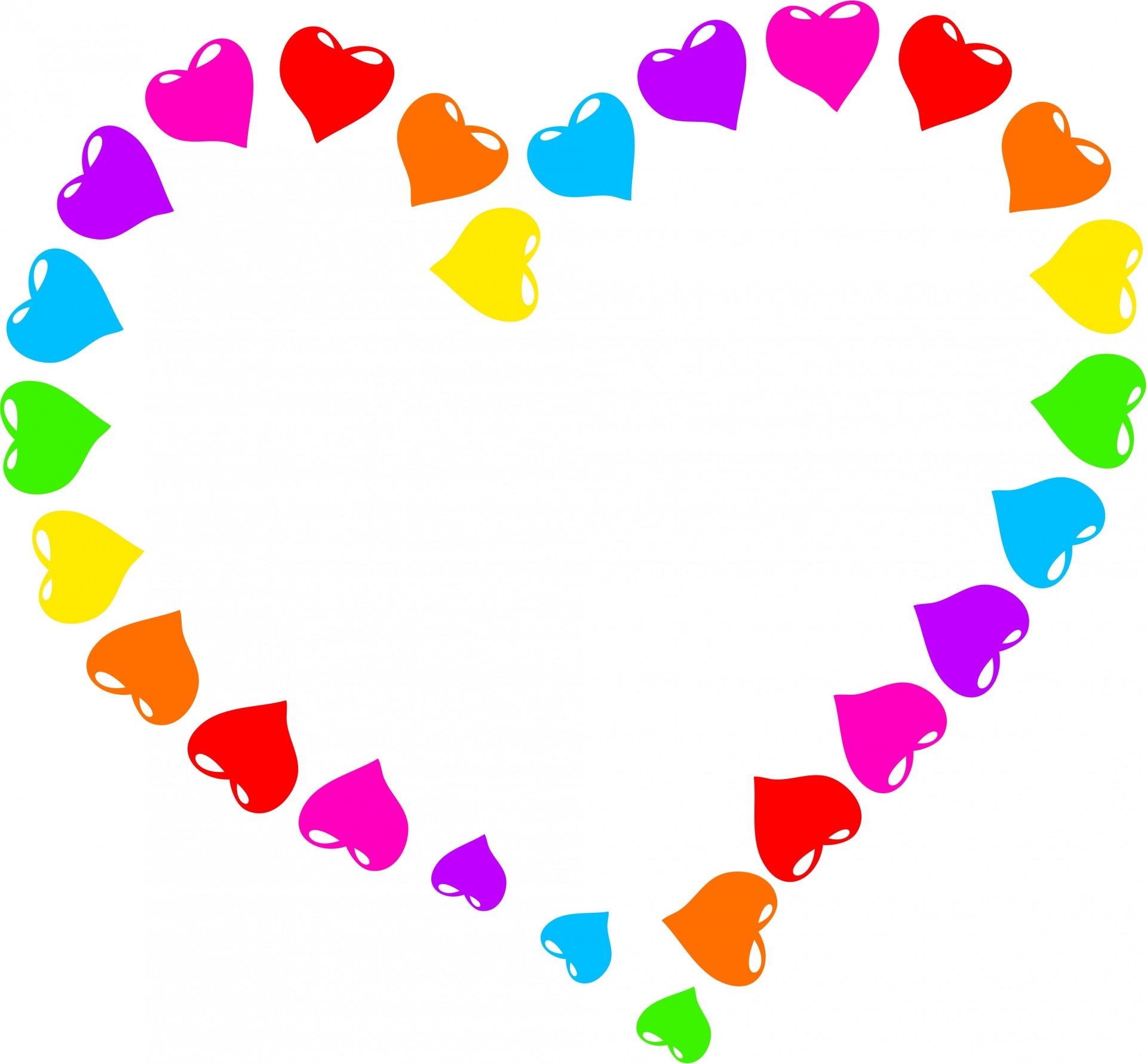 Clipart pictures of hearts png stock Rainbow hearts clipart - ClipartFest png stock