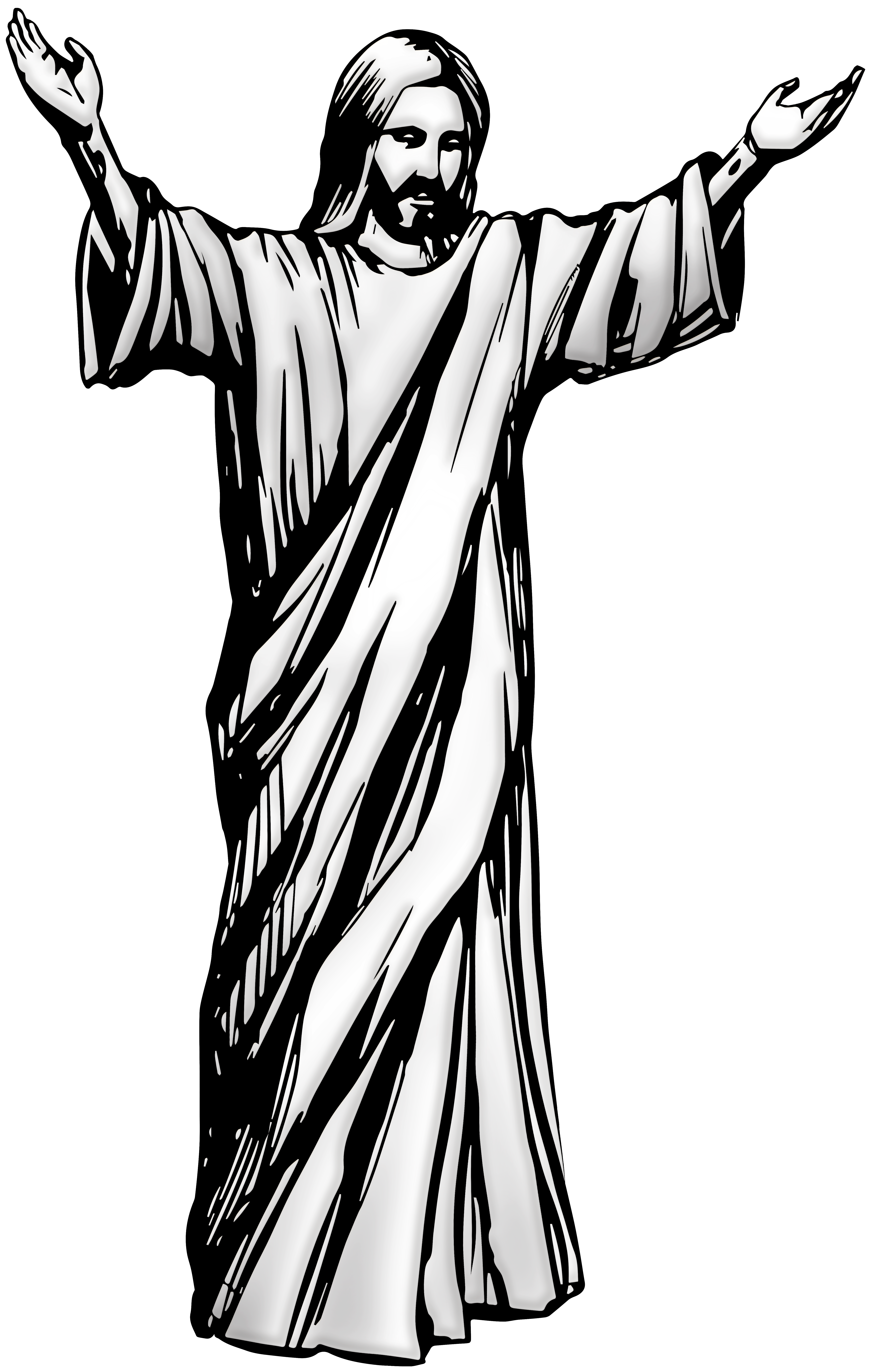 Jesus clipart black and white full body clip art black and white download Jesus Christ PNG Clip Art - Best WEB Clipart clip art black and white download