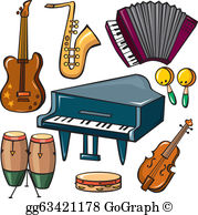 Musical instruments clipart images banner download Musical Instruments Clip Art - Royalty Free - GoGraph banner download