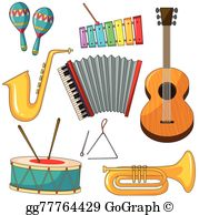 Clipart pictures of musical instruments image download Musical Instruments Clip Art - Royalty Free - GoGraph image download