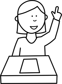 Clipart pictures of student asking a question clipart black and white download Student Asking A Question PNG, SVG Clip art for Web - Download Clip ... clipart black and white download