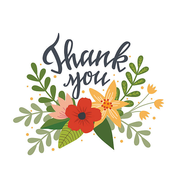 Clipart pictures of thank you png stock Free clipart thank you flowers 4 » Clipart Station png stock