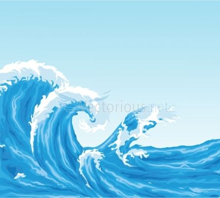 Clipart pictures of the ocean waves image free download Ocean Background Clip Art | Clip Art Illustration Background ... image free download
