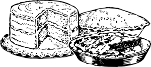 Pie and cake clipart banner free stock Pies And Cake Clip Art at Clker.com - vector clip art online ... banner free stock