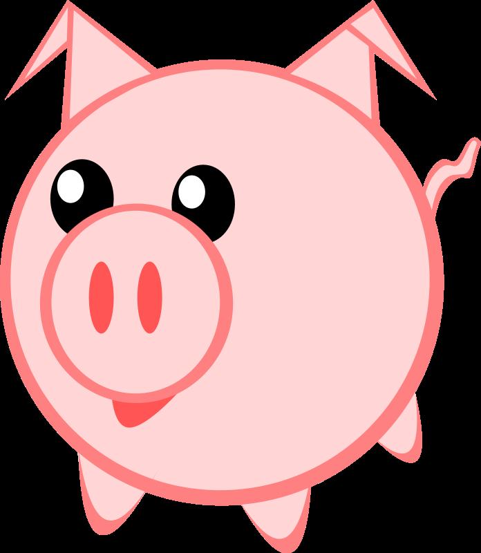 Clipart piggy jpg free library Piggy clip art - ClipartFest jpg free library