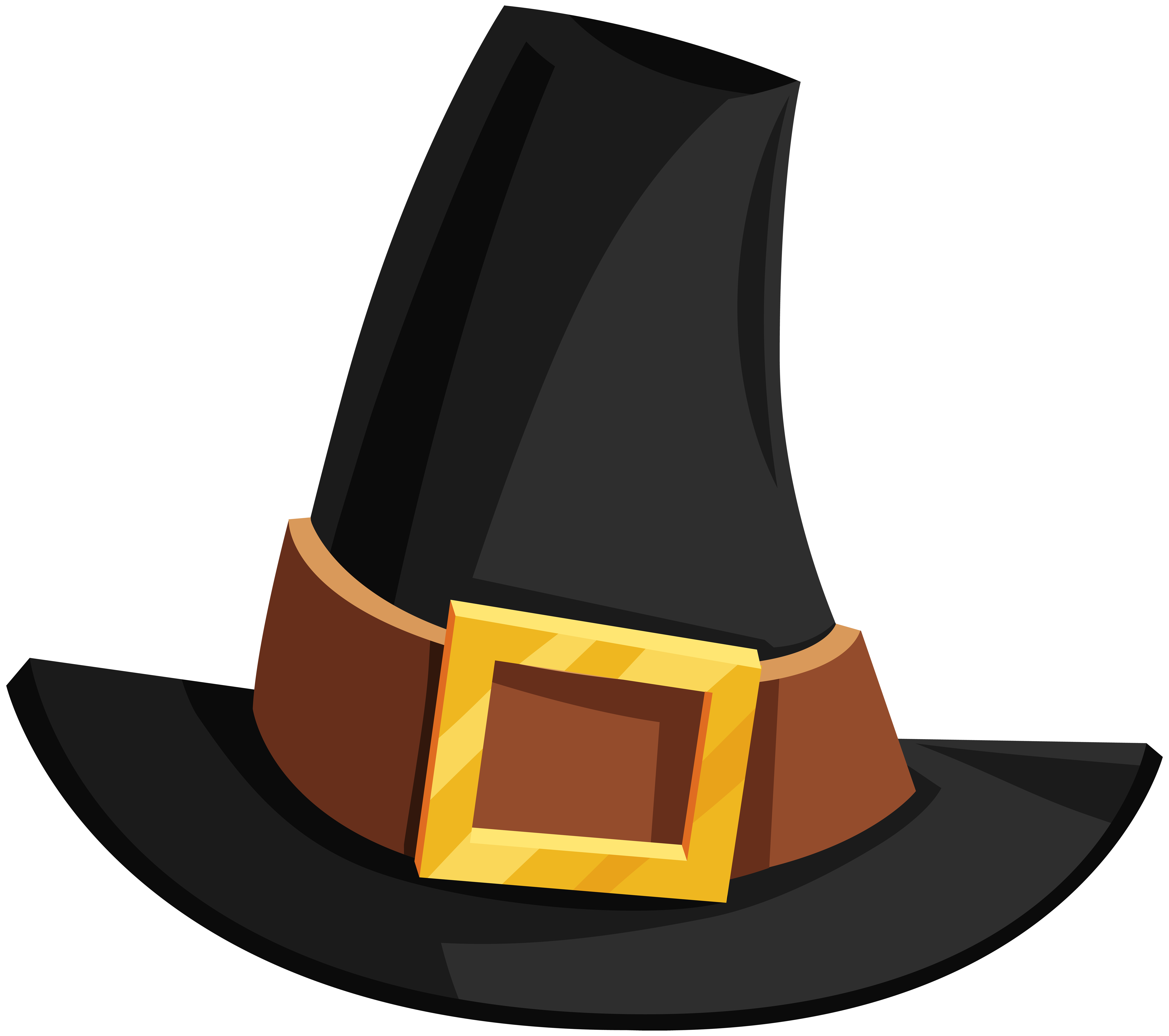 Pilgrims hat clipart picture free stock Pilgrim Hat Transparent PNG Image | Gallery Yopriceville - High ... picture free stock