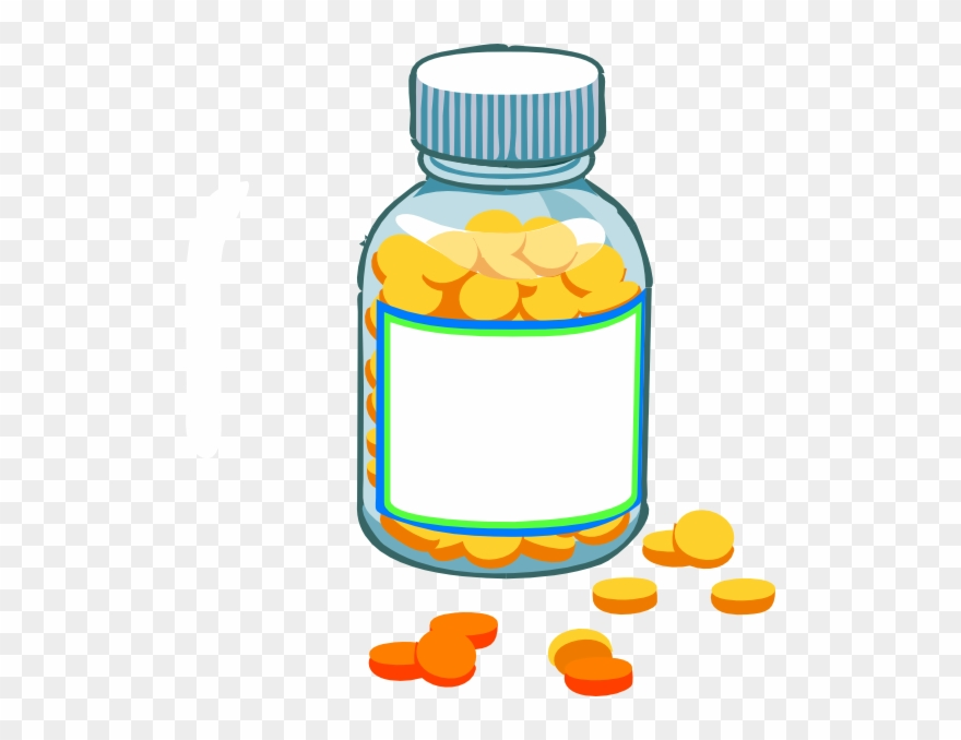 Clipart pill bottles png library download Transparent Background Pill Bottle Clipart - Png Download (#259030 ... png library download