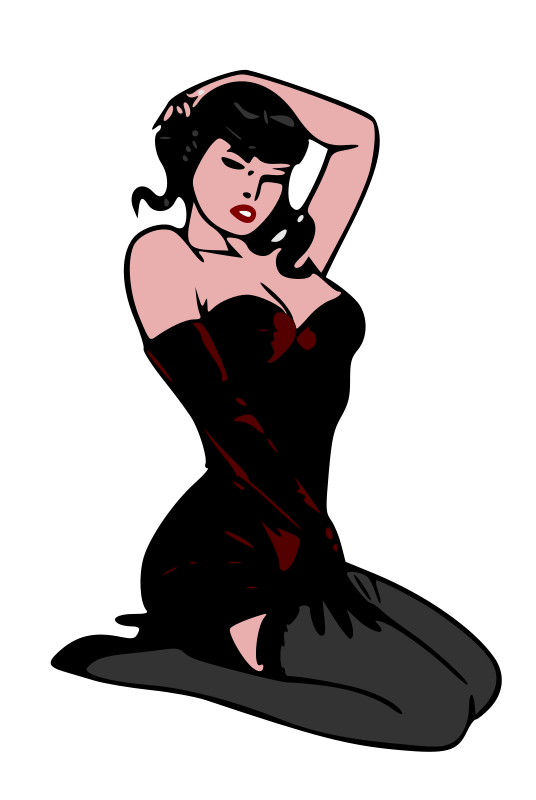 Clipart pin up jpg stock Free Clipart: Pin-up red | liftarn jpg stock