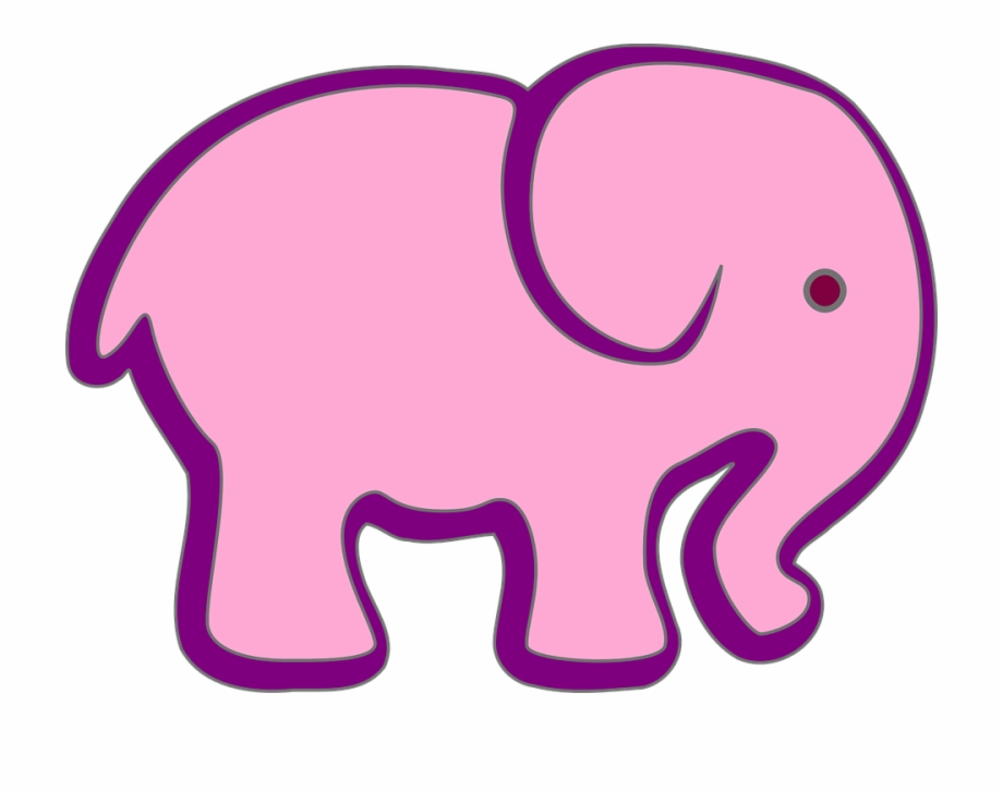 Free pink elephant clipart. Purple nature animal circus