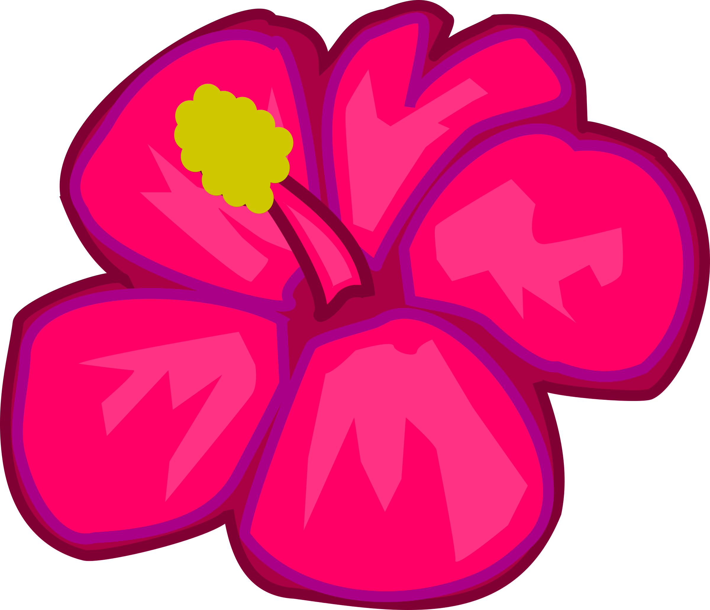 Clipart - Pink flower png freeuse stock