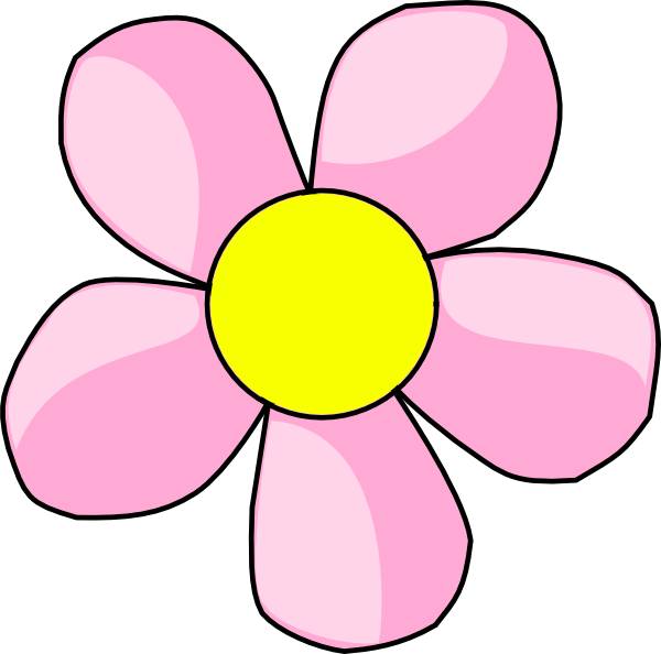 Clipart pink flowers jpg library library Pink Flower 10 Clip Art at Clker.com - vector clip art online ... jpg library library
