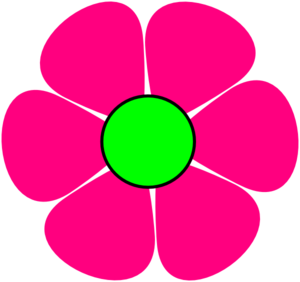 Clipart pink flowers png black and white download Pink Flower #2 Clip Art at Clker.com - vector clip art online ... png black and white download