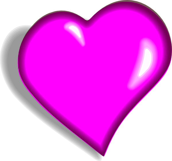 Clipart pink heart png black and white Clip Art Pink Heart | Clipart Panda - Free Clipart Images png black and white
