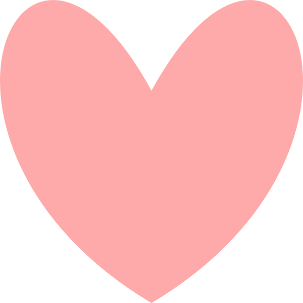 Pink heart clipart picture royalty free Pink Heart Clip Art at Clker.com - vector clip art online, royalty ... picture royalty free