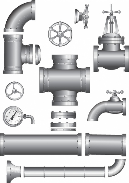 Natural gas pipeline clipart