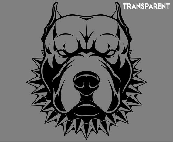 Clipart pitbull jpg black and white download Pitbull, Pit bull terrier, Dog, Cartoon, SVG,Graphics,Illustration ... jpg black and white download