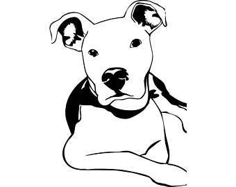 Clipart pitbull jpg free stock Pitbull clipart black and white 8 » Clipart Portal jpg free stock