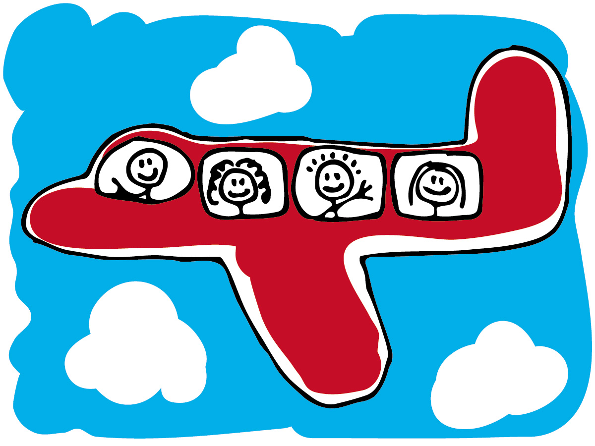 Clipart plane vector black and white Clip Art Airplane Travel Clipart - Clipart Kid vector black and white