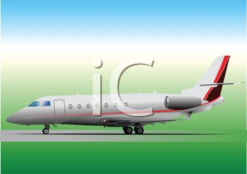 Clipart plane landing clip art stock Commercial Plane Landing at the Airport - Royalty Free Clipart Image clip art stock