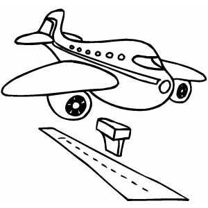 Clipart plane landing clip black and white library Clipart plane landing - ClipartFest clip black and white library