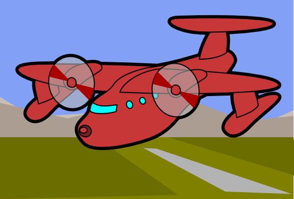 Clipart plane landing vector transparent stock Red Plane Clip Art at Clker.com - vector clip art online, royalty ... vector transparent stock