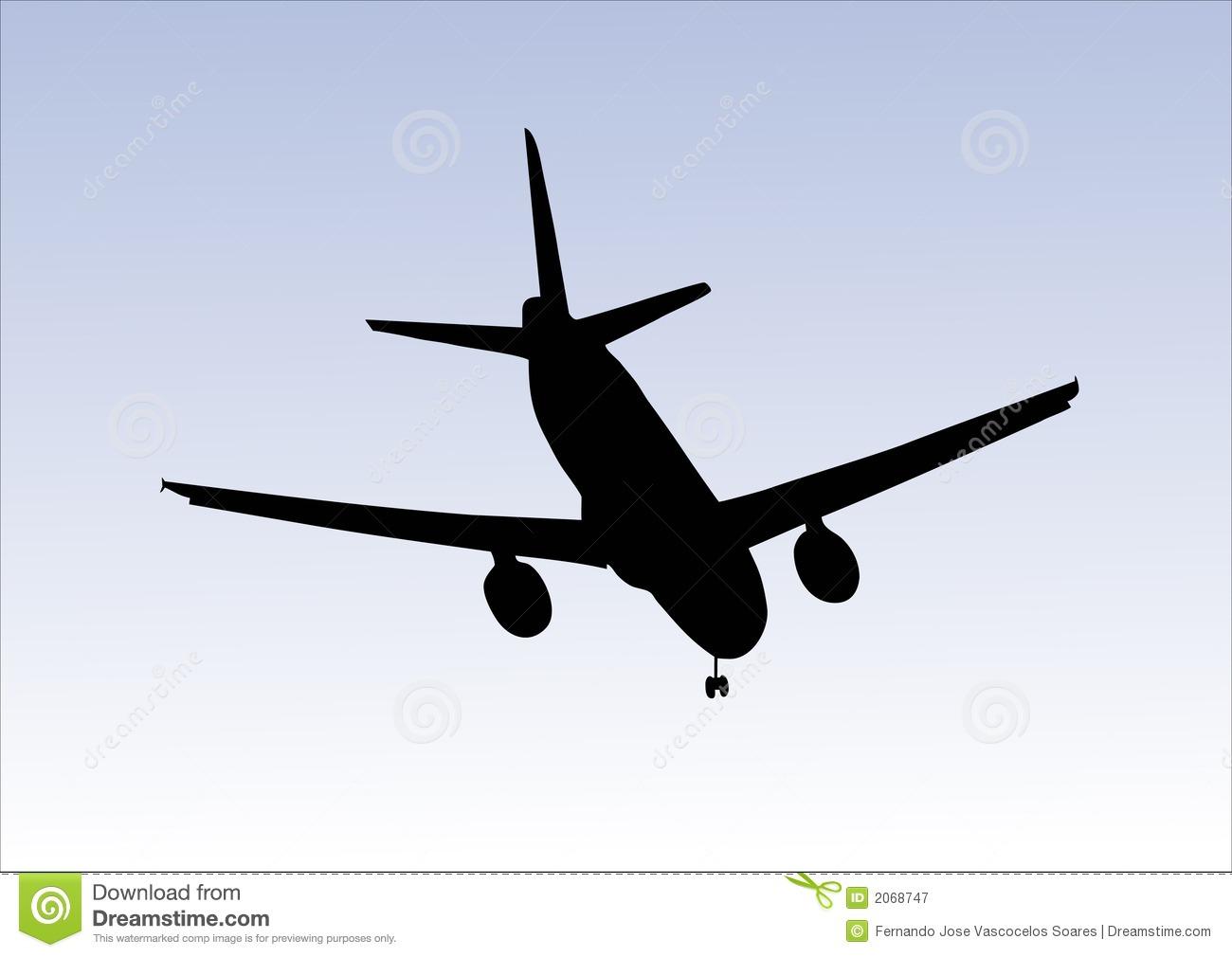 Clipart plane landing banner transparent library Aeroplane Landing Royalty Free Stock Photography - Image: 2068747 banner transparent library