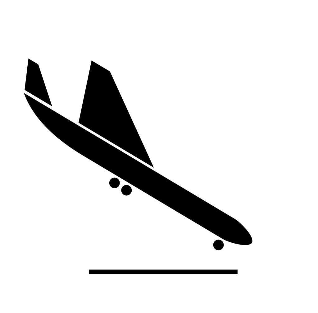 Clipart plane landing banner royalty free Clipart plane landing - ClipartFest banner royalty free