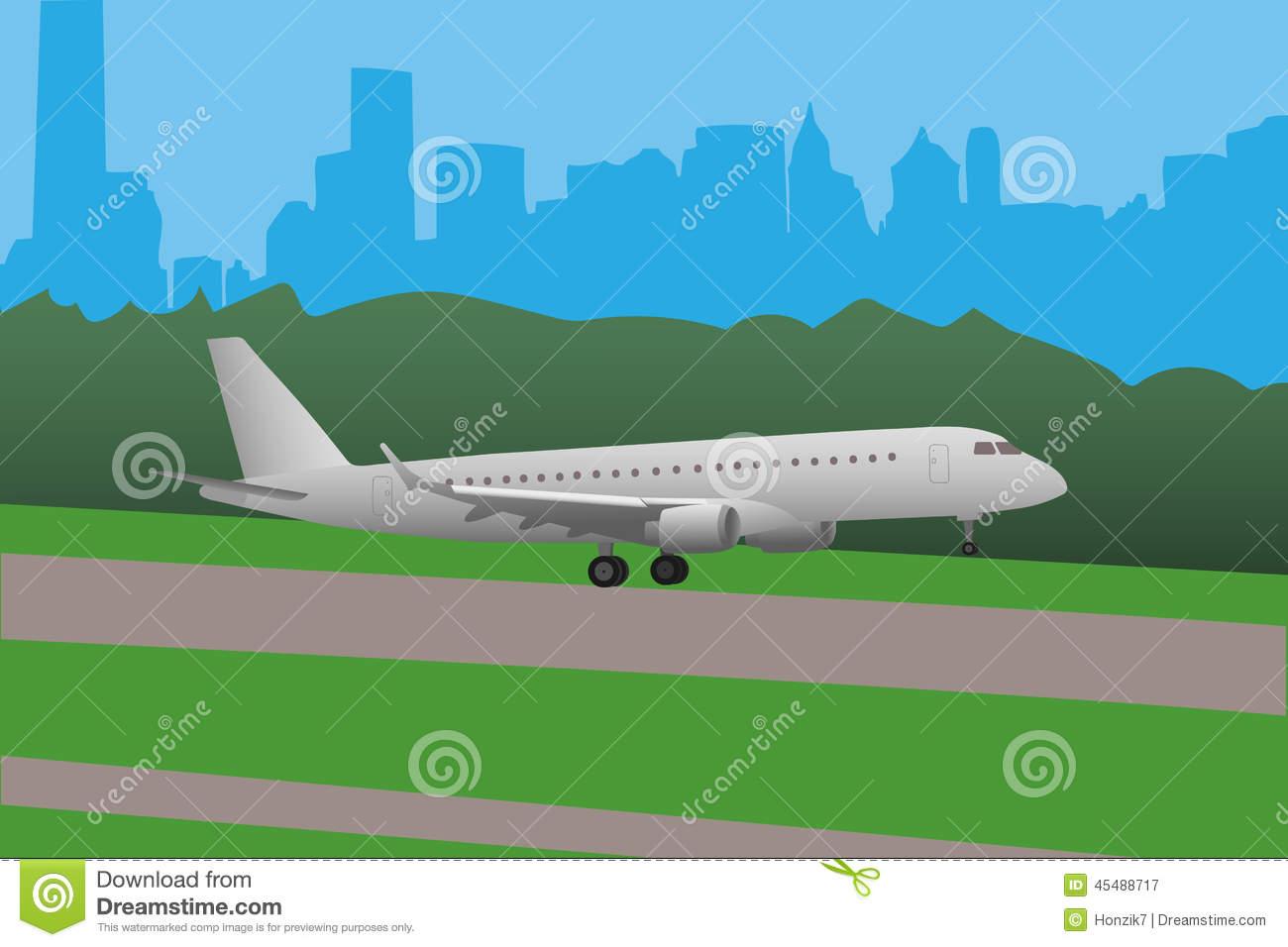 Clipart plane landing clip freeuse Plane landing on airport clipart - ClipartFest clip freeuse