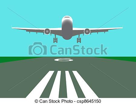 Clipart plane landing banner freeuse Plane Landing Clipart banner freeuse