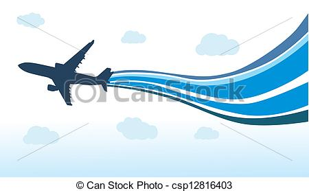 Clipart plane stock free png Vector Clipart of Flying airplane csp12816403 - Search Clip Art ... png