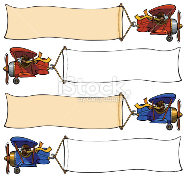 Clipart plane stock free svg transparent Plane Clip Art two seater | Cartoon airplane pulling banner Stock ... svg transparent