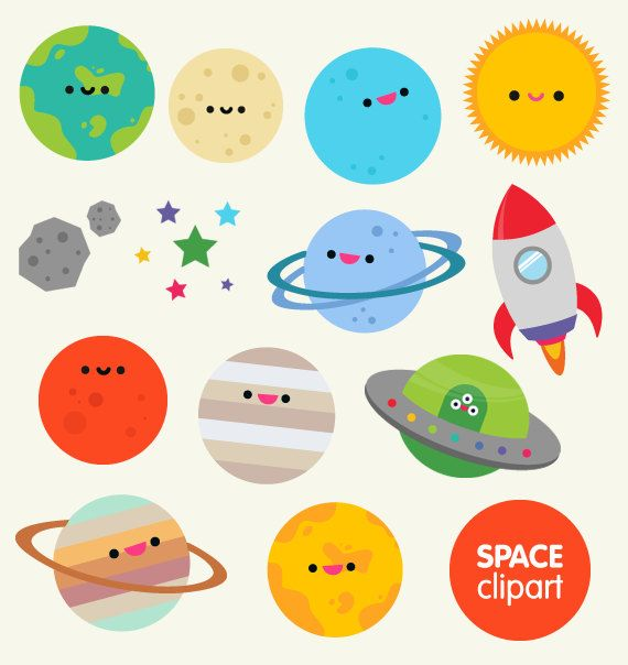 Space things clipart image freeuse library Space clipart commercial use, digital planet graphics- cartoon ... image freeuse library